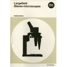 Leitz largefield stereo microscope instruction only
