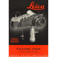 Leica focusing stage with ground glass focusing only