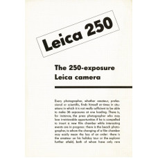 Leica 250 exposure camera instructions