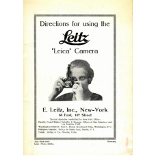 Directions for using the leitz leica camera 1928 rare