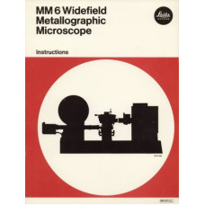 Leitz mm6 widefield metallographic microscope manual