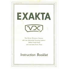 Exakta vx 35mm miniature camera instruction booklet
