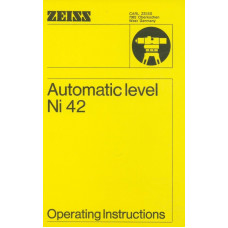 Zeiss automatic level ni 42 operating instructions