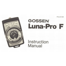 Gossen luna-pro f exposure meter instruction manual