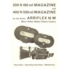 Arriflex 16m 200-400ft magazine description maintenance