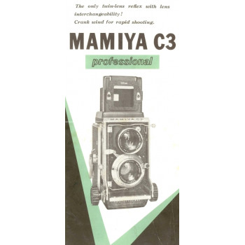 Mamiya tlr model c3 professional camera brochure