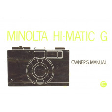 Minolta hi matic vintage film camera user instruction manual