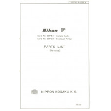 Nikon kogaku f parts list camera body eye-level finder