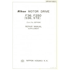 Nikon kogaku motor drive f36 f250 s36 s72 repair manual