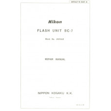 Nikon kogaku flash unit bc-7 repair manual