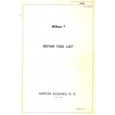 Nikon f kogaku camera repair tools list ping