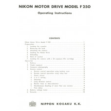 Nikon kogaku motor drive f250 operating instructions