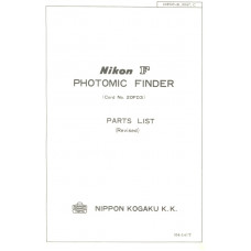 Nikon f kogaku photomic finder parts list