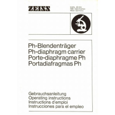 Carl zeiss ph-diaphragm carrier operating instructions