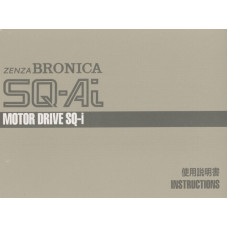 Bronica zenza sq-ai motor drive sq-i instruction manual