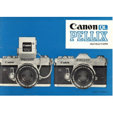 Canon ql pellix slr camera instructions manual only