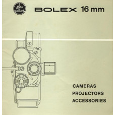 Bolex h16 cameras projectors accessories brochure info