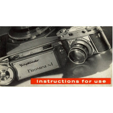 Voigtlander prominent 35mm camera instructions for use
