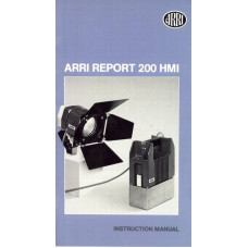 Arriflex arri report ar 200 hmi lamp instruction manual