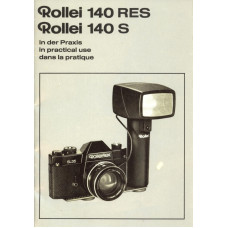Rollei 140rs 140s camera in practical use instructions