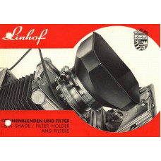 Linhof lens shade filter holder and filters instruction