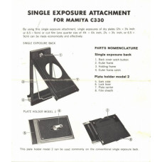 Single exposure attachment for mamiya c330 manual