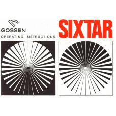 Gossen sixtar exposure meter operating instructions
