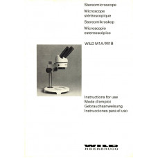 Wild m3 stereo microscope instructions operating manual