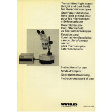 Wild transmitted-light stand stereo microscopes manual