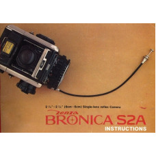 Zenza bronica s2a 6x6 slr camera instruction manual