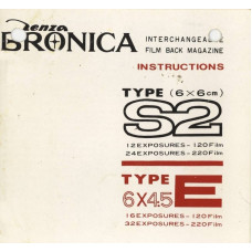 Zenza bronica s2 film magazine 6x6 instructions only