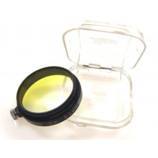 SLIP ON 36mm HALF YELLOW G.b. FILTER BLACK RARE LEICA