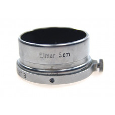 5cm ELMAR CHROME LEICA LENS HOOD SHADE E.LEITZ SLIDE ON