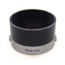 ELMAR 5cm LENS SHADE HOOD BLACK CHROME CLIP ON NICE NR