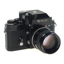 NIKON BLACK F PHOTOMIC HEAD CAMERA NIKKOR 2/85 LENS NR