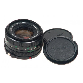 CANON CAMERA LENS FD 50mm 1:1.8 CAPS 1.8/50mm CLEAN NR