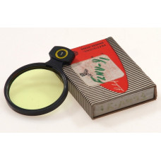 LINHOF CAMERA 42mm SLIP IN LENS FILTER YELLOW MINT BOX