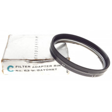 HASSELBLAD filter adapter ring No. 63 with bayonet mount boxed mint condition
