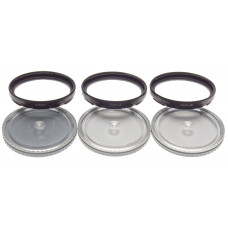 Set of 3 ZEISS softar filters I II III B50 case HASSELBLAD camera lens accessory