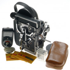 BOLEX H16 REFLEX MOVIE CAMERA MODEL 4 FLAT BASE BODY MOTOR CRANK CLEAN 16mm XTRA