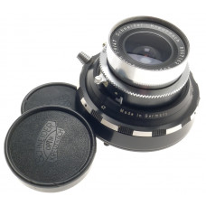 SCHNEIDER SUPER-ANGULON 1:8/47 WIDE ANGLE LENS f=47mm FOCUSING MOUNT SILVER CAPS