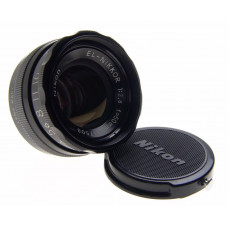 NIKON EL-NIKKOR 1:2.8 f=50mm ELARGING LENS BLACK MINT CAP CLEAN GLASS PERFECT NR