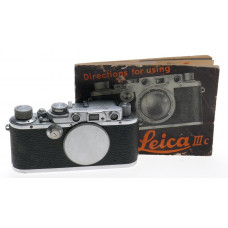 LEICA 3a M39 SCREW MOUNT LTM RANGEFINDER 35mm FILM CAMERA BODY IIIa MANUAL CAP
