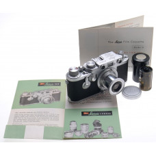 LEICA 3F RANGEFINDER IIIF CAMERA SELF TIMER ELMAR 3.5/5cm LENS f=50mm CHROME LTM