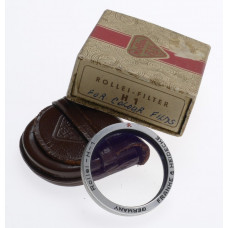 -0 1H ROLLEI  FILTER ROLLEIFLEX R IN ORIGINAL MAKERS BOX LEATHER POUCH R CLEAN