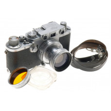 CHROME IIIF LEICA CAMERA 35mm FILM VINTAGE SUMMITAR 1:2 f=5cm COLLAPSIBLE LENS