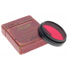 FEDOO R FILTER HELL FUR OBJECTIVE RED FILTER Rh LEITZ WETZLAR BOX SNAP ON CLEAN