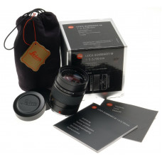 LEICA 1:2.5/90mm SUMMARIT-M CAMERA LENS M9 M3 BLACK 6 bit MONOCHROME GUARANTEE