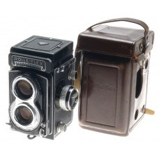 ROLLEIFLEX T JUST SERVICED TLR LIGHTMETER ZEISS TESSAR 1:3.5 f=75mm EXCELLENT