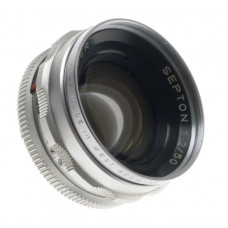 CHROME VOIGTLANDER SLR SEPTON 1:2/50mm VINTAGE CAMERA LENS f=50mm SILVER CLEAN